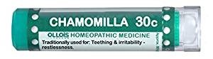 Natural Home Remedy for Teething, irritability, restlessness | Chamomilla 30C Homeopathic 80 Pellets (Lactose-Free/Vegan) by Ollois