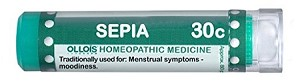 Natural Home Remedy for Menstrual symptoms and Moodiness | Sepia 30C Homeopathic 80 Pellets (Lactose-Free/Vegan) by Ollois